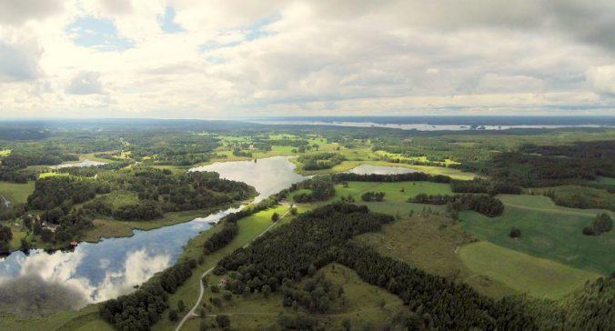 Flygbild över Näshultasjön
