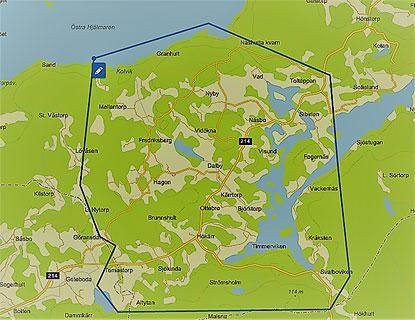 Karta Over Projektomradet Nashulta Fiber