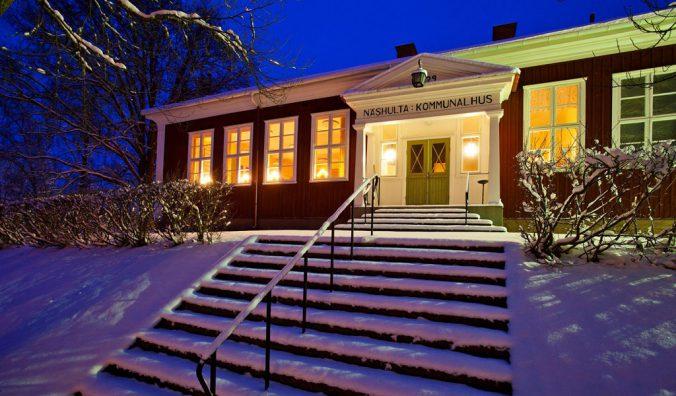 Näshulta kommunalhus vinter