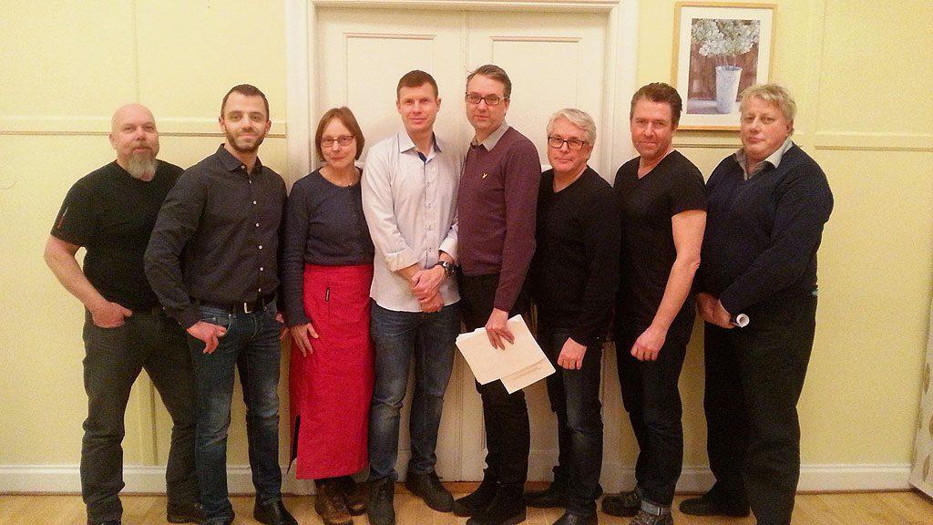 Styrelse och arbetsgrupp Näshulta fiber 13/1 2016